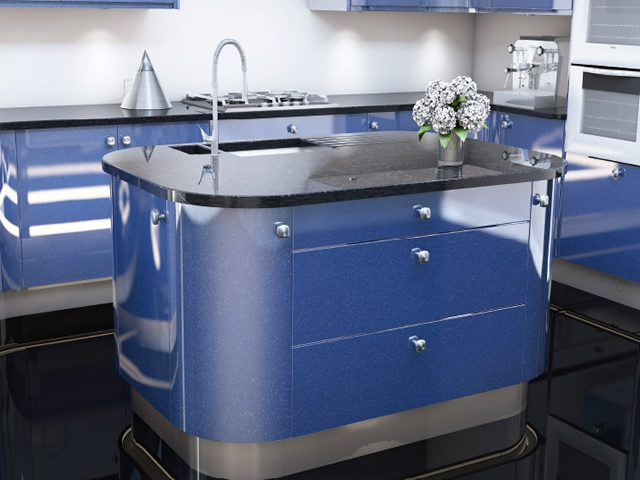 Gloss Slab Metalic Blue