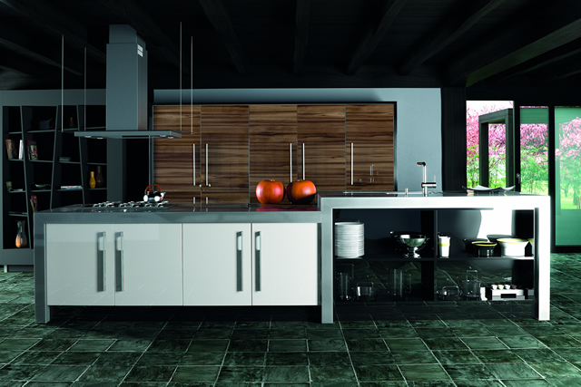 ultra-gloss-noce-marino-and-white-kitchen