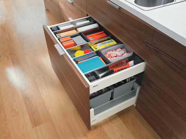 Blum Intivo drawer featuring internal drawer
