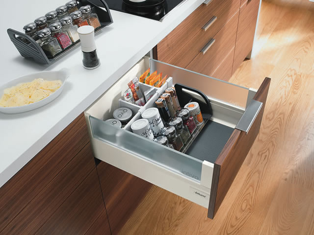 Blum Intivo glass deep drawer