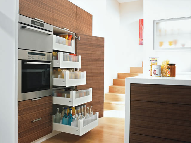Blum Intivo glass  pull outs