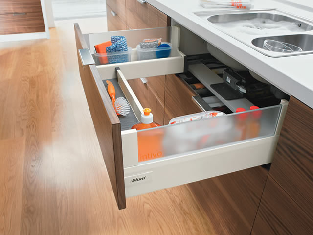 Blum Intivo glass sink drawer