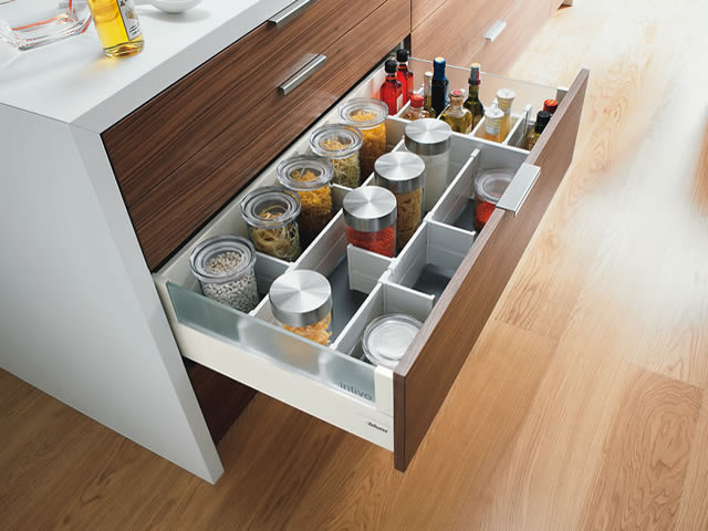 Blum Intivo glass wide drawer