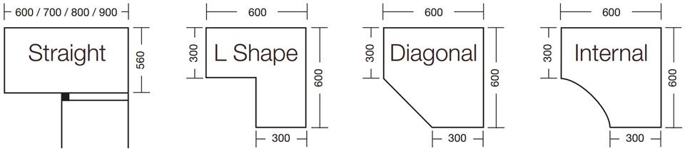 Cabinet Sizes Blok Designs Ltd
