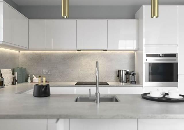 J Pull Gloss white Kitchen 2018