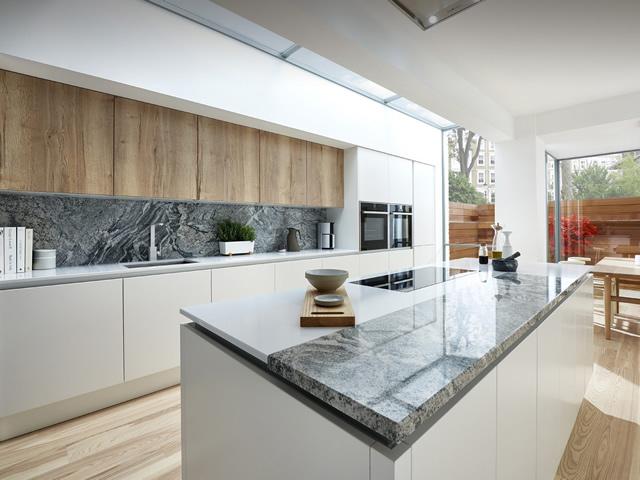 White Matt True Handle-less Kitchen