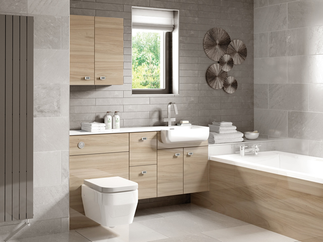 Fitted Bathroom - Urban Gloss Elm
