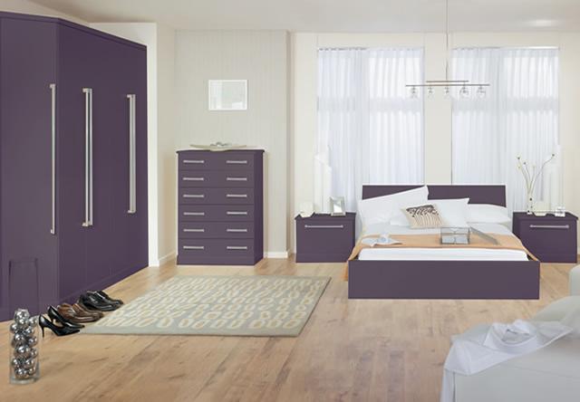 Purple Matt Fitted Bedroom