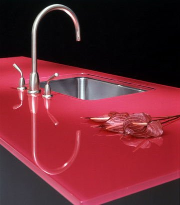 Coloured Glass Worktops