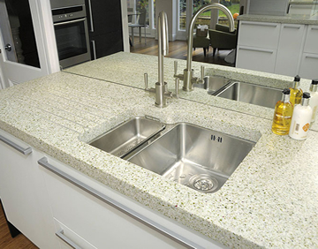recycled glass worktops blok designs ltd
