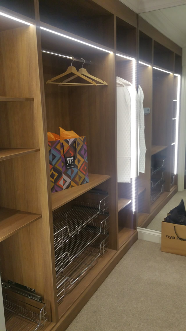 Fully Fitted Furniture in Walk in Wardrobe - Dressing Area - Left Hand Side