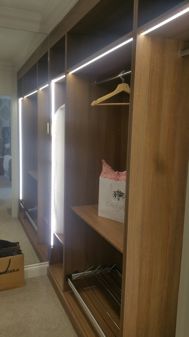 Fully Fitted Furniture in Walk in Wardrobe - Dressing Area - Right Hand Side