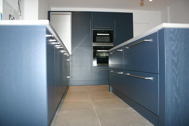Woodgrain Finish Kitchen Installed in Bromley