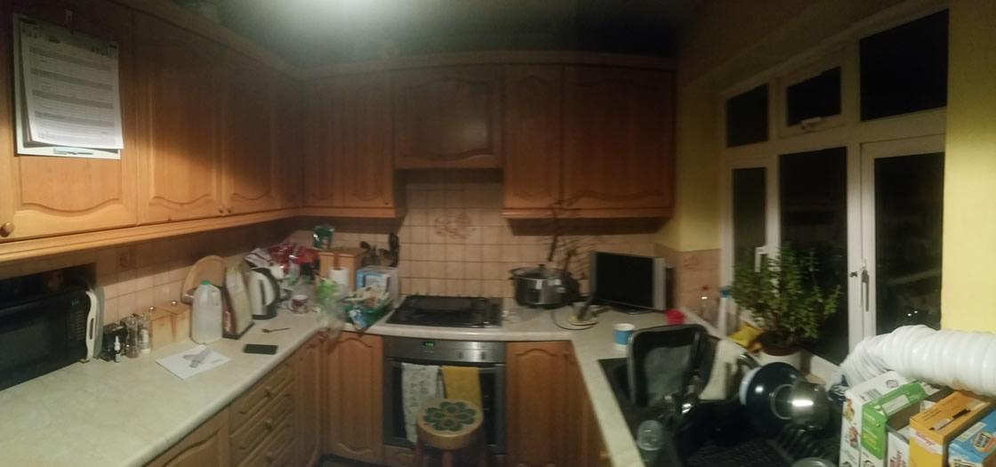 Large Bespoke Shaker Kitchen Before