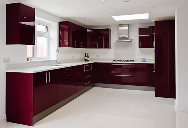 Quartz floor with a quartz worktop
