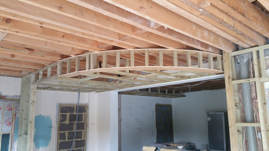 Large Framing for new kitchen light housing