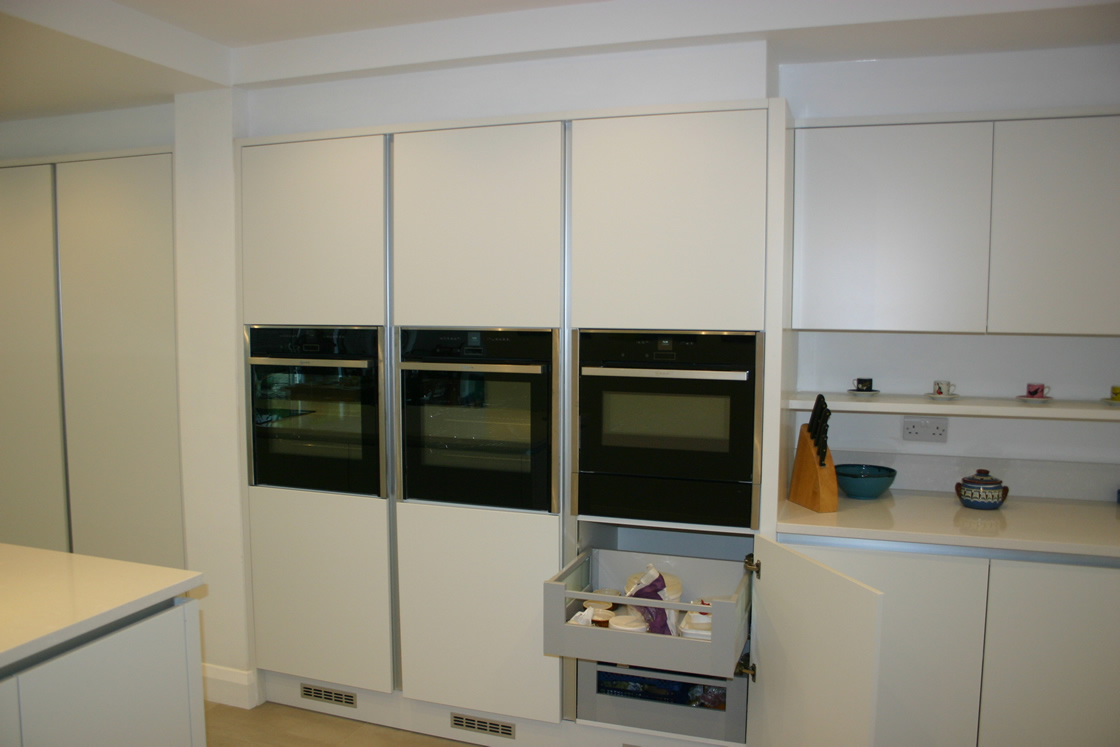 Large New kitchen featuring deep storage drawers