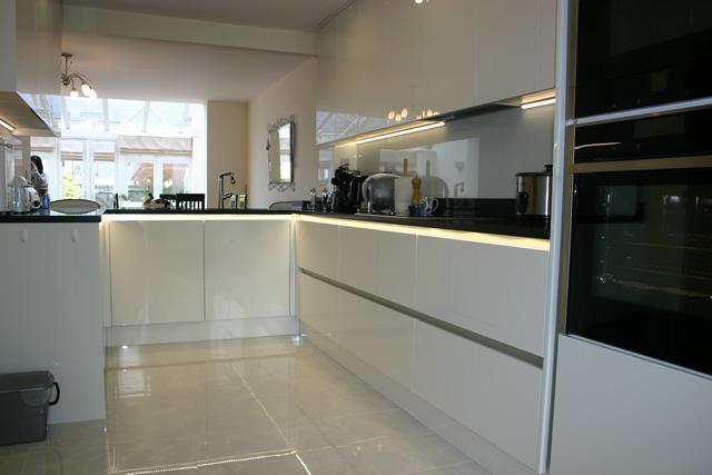 Kitchen with Black Quartz Worktops