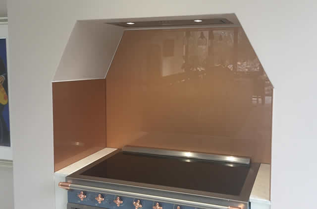 Copper Kitchen Splash Back