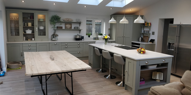 Crawley - Solid Ash Bespoke Kitchen in French Grey