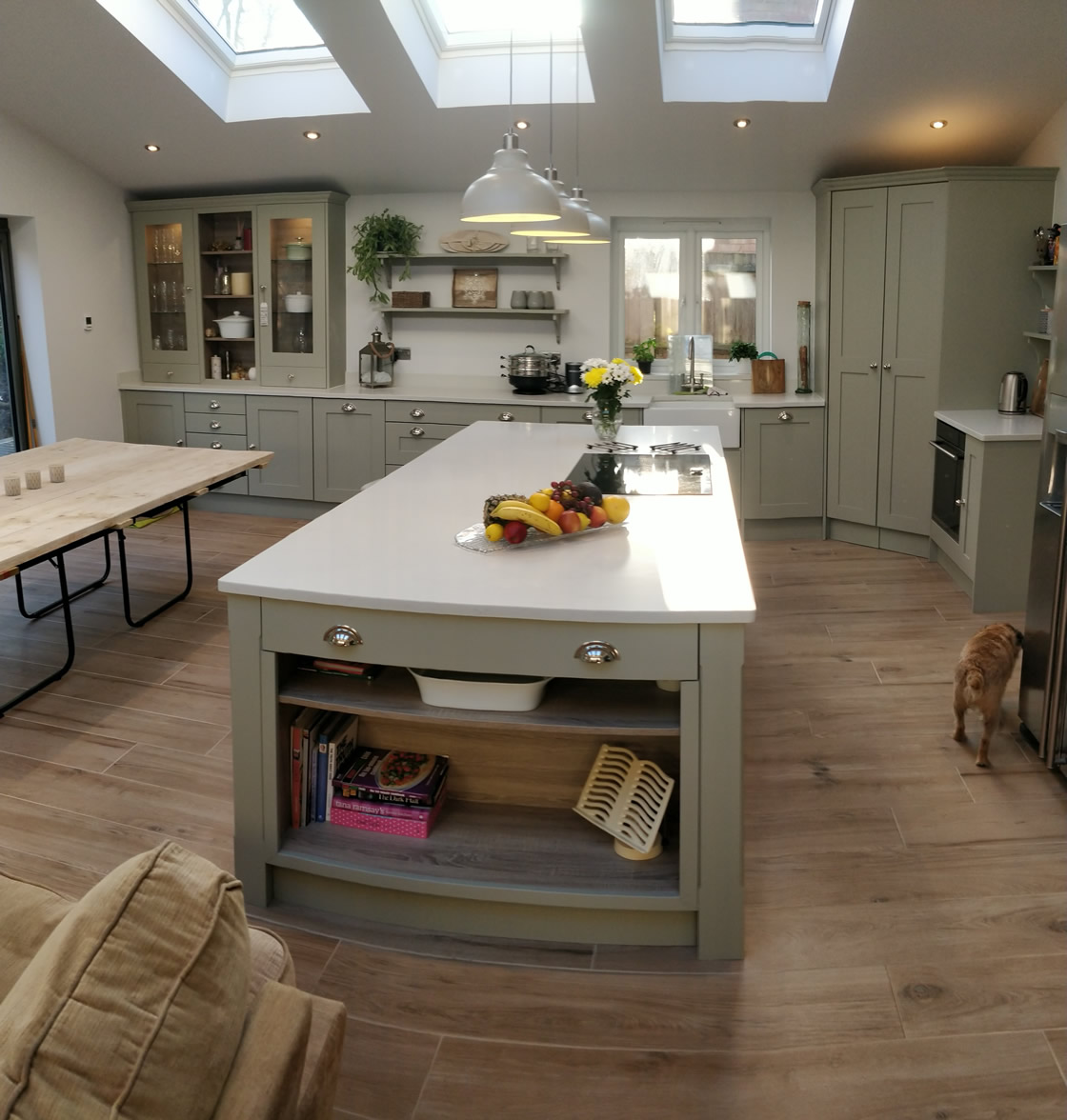 Large Bespoke Kitchen in Crawley West Sussex