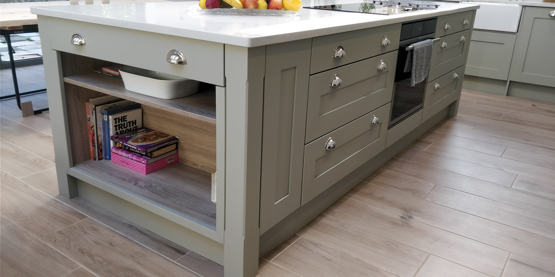 Large Crawley Bespoke Kitchen Island Shelves