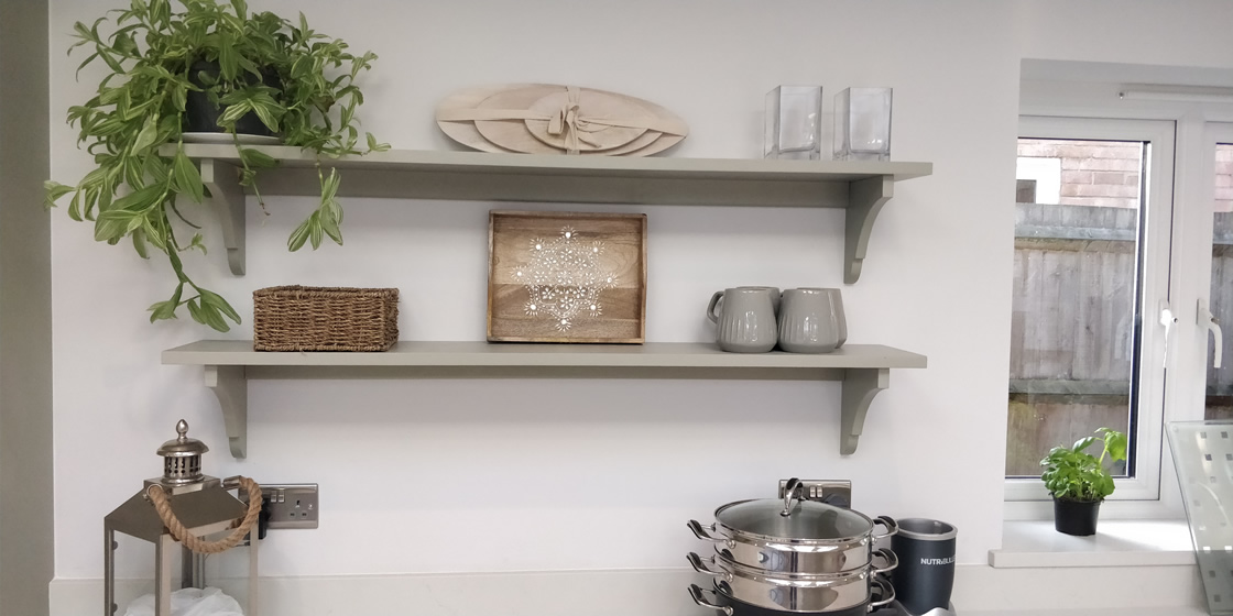 Large Crawley - Solid Ash Kitchen Shelving