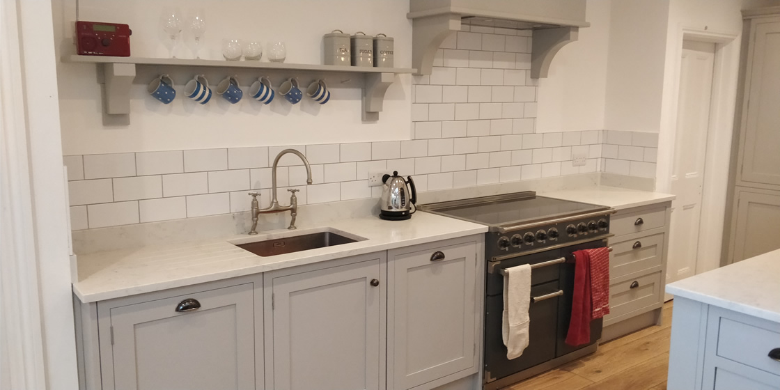 In-Frame Kitchen with Samsung Quartz Worktops