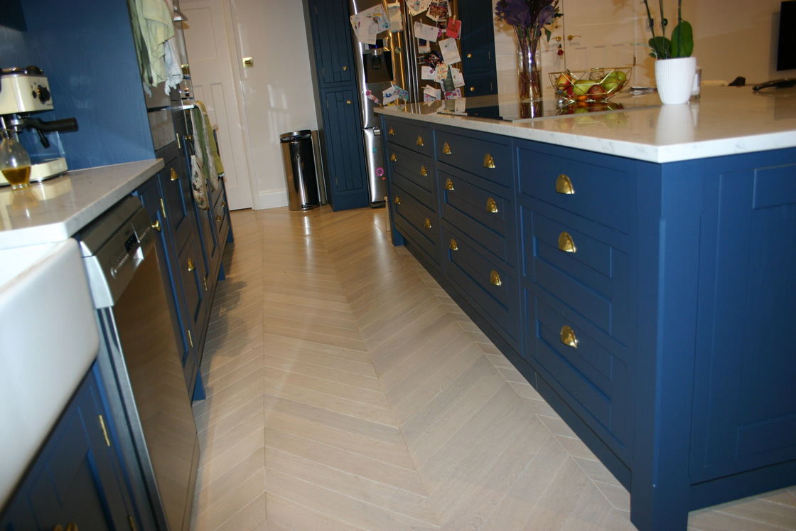 Bespoke Ash Kitchen with Large Island