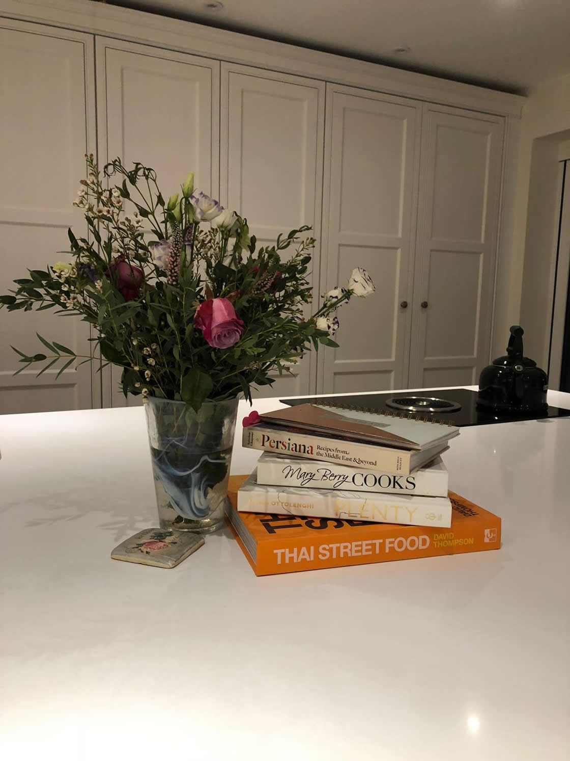Flowers delivered to happy kitchen client