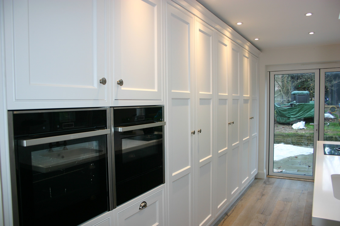Tall Kitchen Units Showing Integrated Oven and Grill