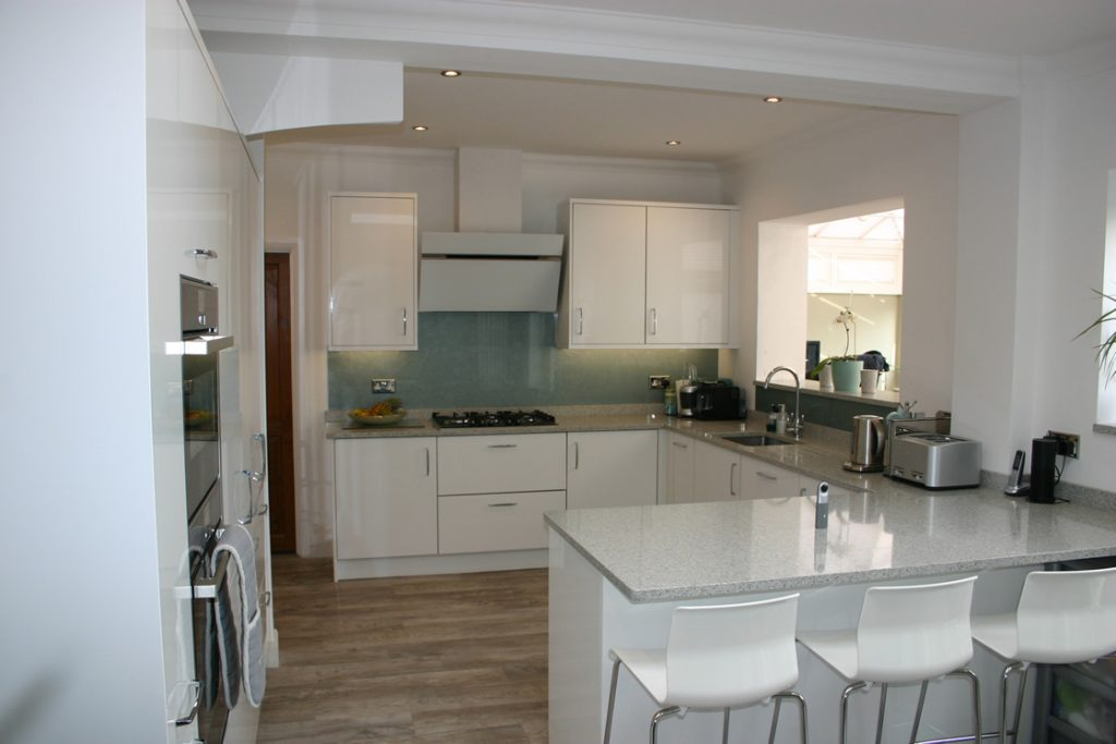 Acrylic White Gloss Kitchen Installed in Coulsdon Surrey