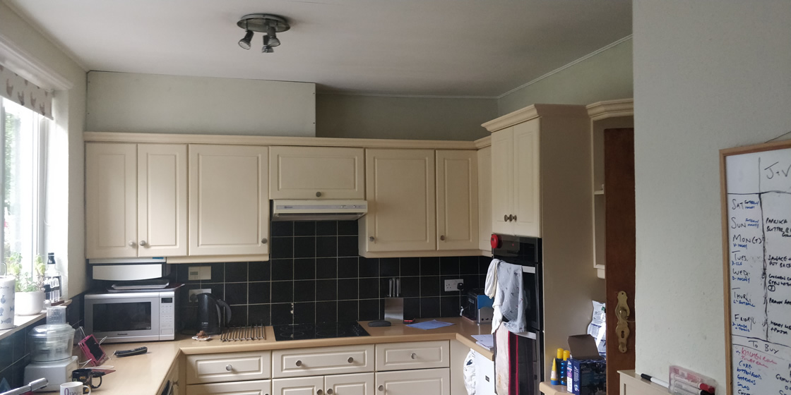 Before Work Started in Carshalton Beeches Kitchen Renovation