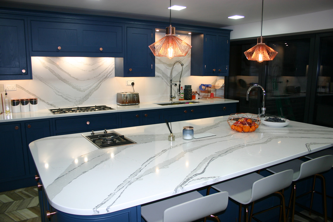 Bespoke Kitchen Showing Cambria Brittanicca Worktops