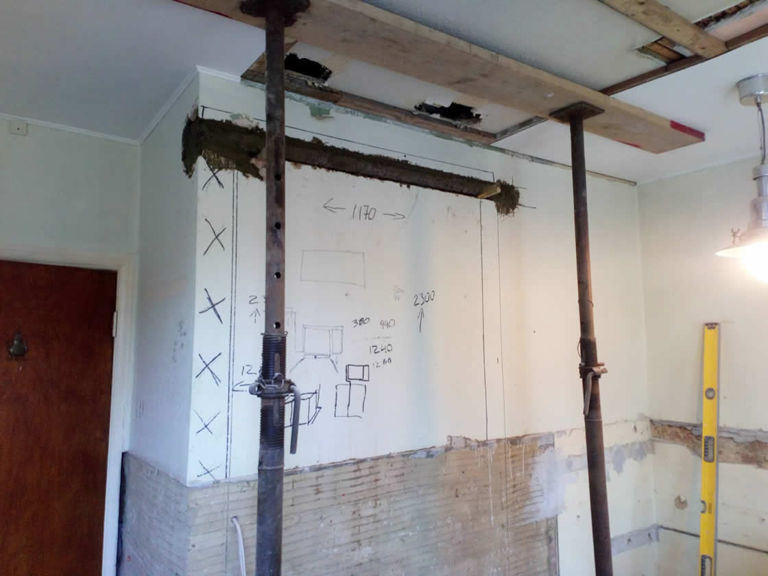 Carlshalton Beeches Kitchen During Construction