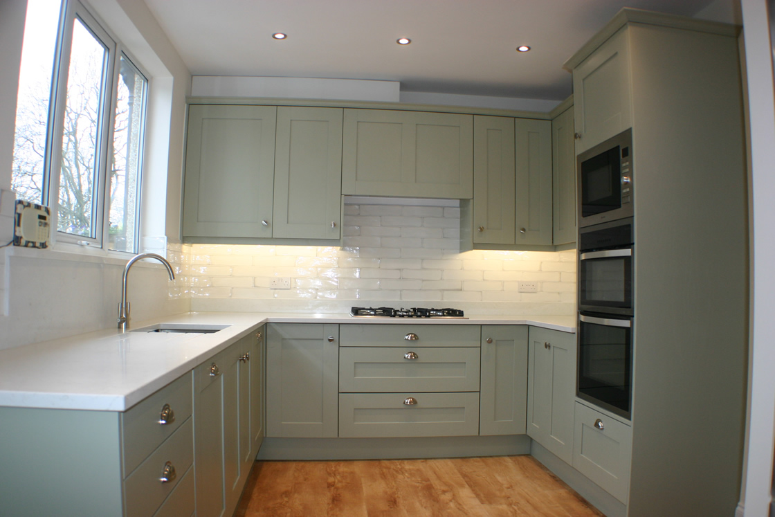 New Kitchen in Farrow & Ball French Grey