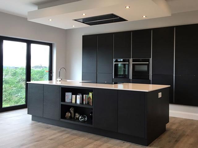 Slab Ash Woodgrain Painted Slab Kitchens Main Pic