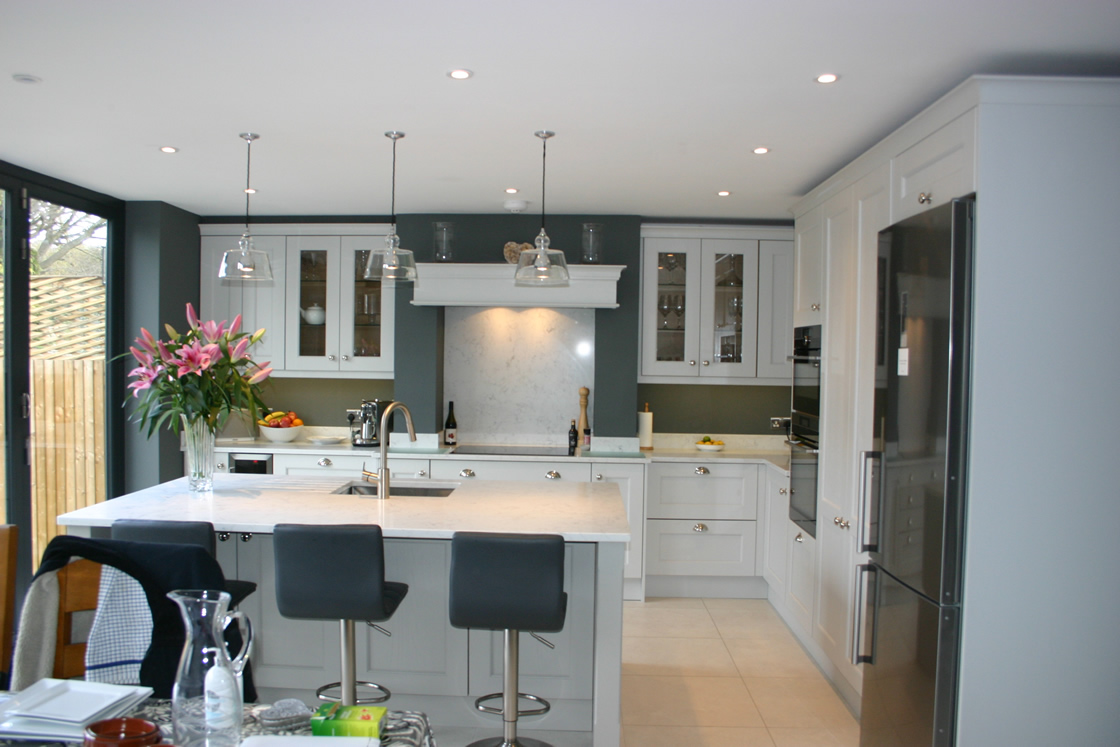Bespoke French Grey Shaker Kitchen in Redhill Surrey