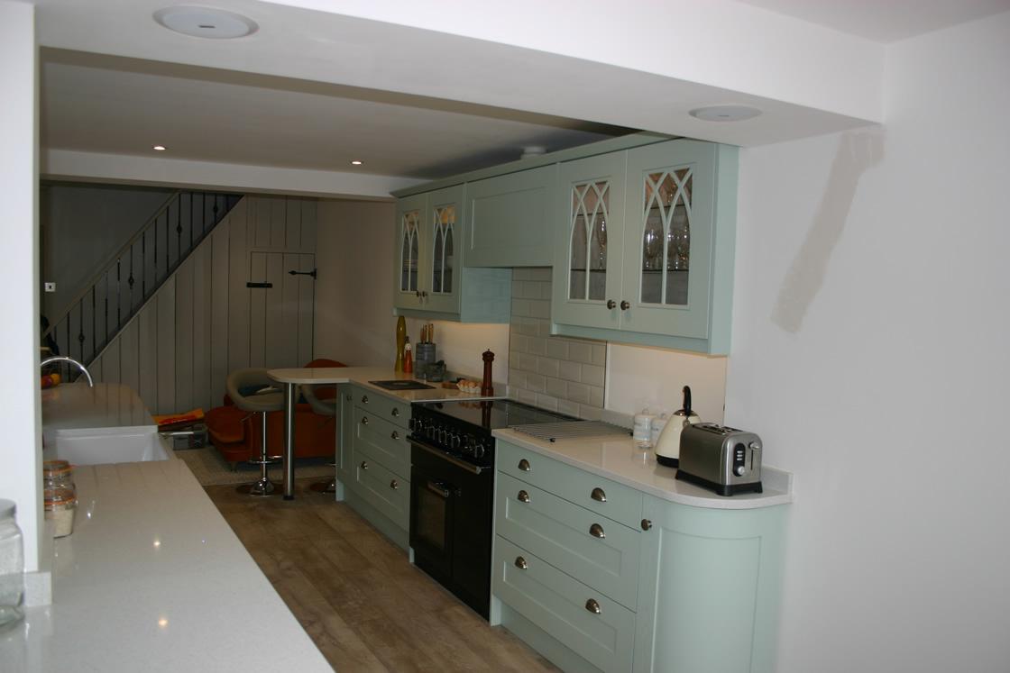 Bespoke Galley Kitchen installed in Merstham Surrey
