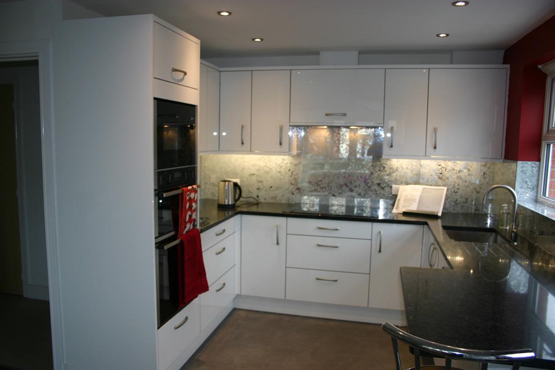 Bespoke High Gloss Acrylic Kitchen Design in Redhill