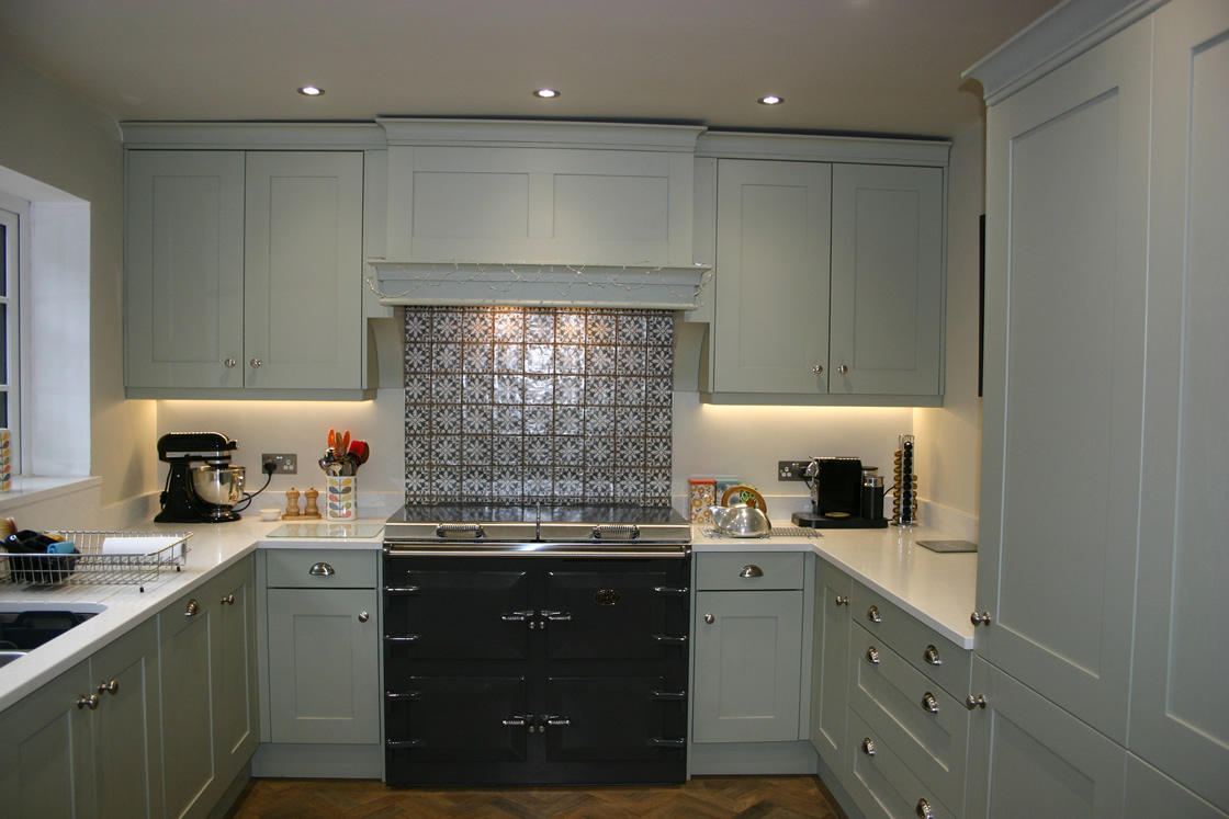 Bespoke Kitchen with Light Marble Effect Quartz