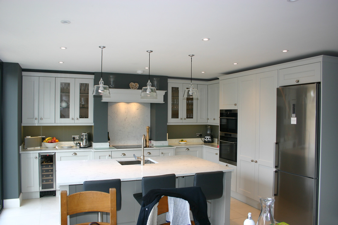 Bespoke Shaker Kitchen with Large Island in Redhill
