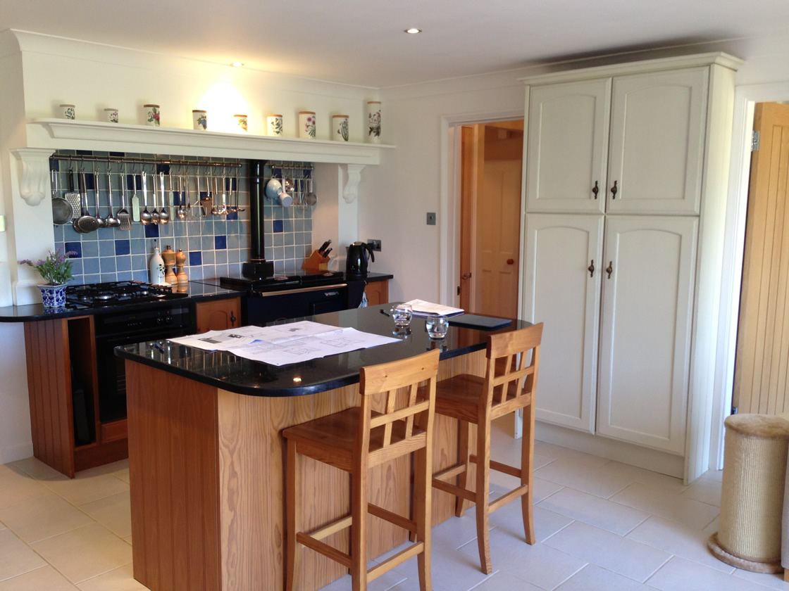 Cobham kitchen island before work started