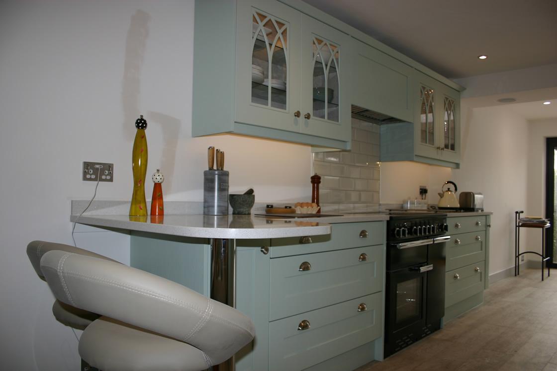 Green Kitchen installed in Merstham Surrey