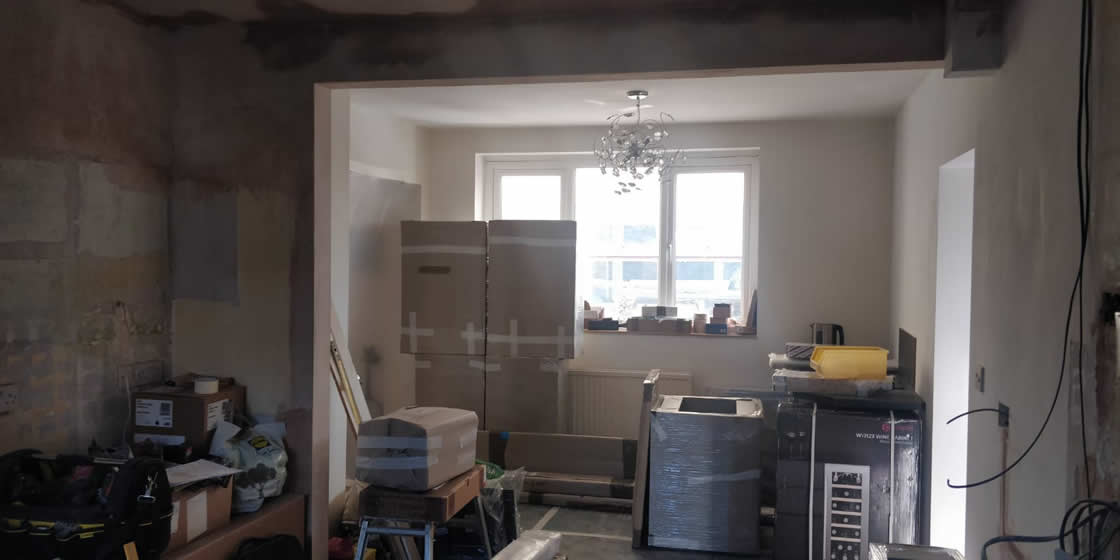 Merstham Kitchen Renovation After Plastering