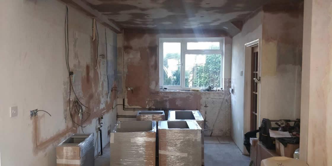 Merstham Kitchen Renovation During Building Works