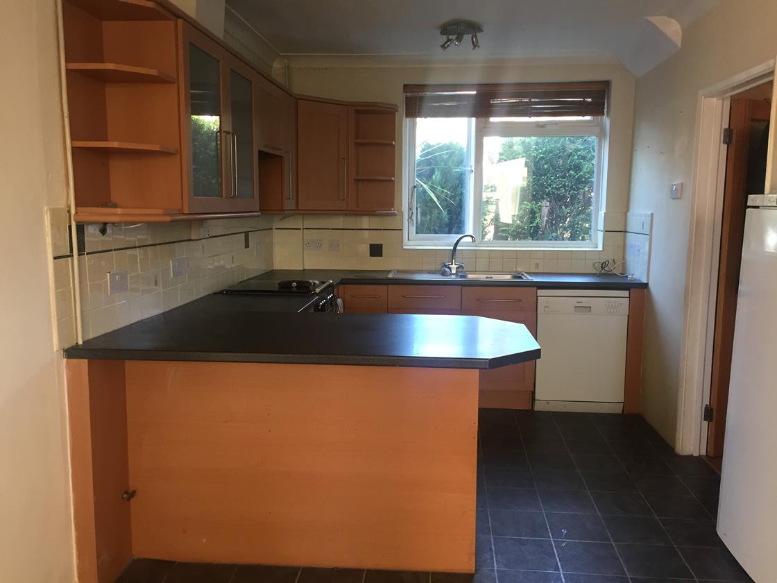 Merstham Kitchen Renovation View to Garden of Old Kitchen