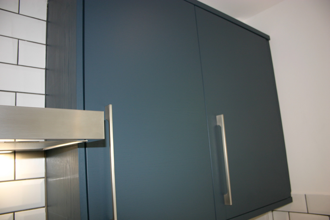 Merstham Kitchen SHowing Close Up of Painted Cupboard