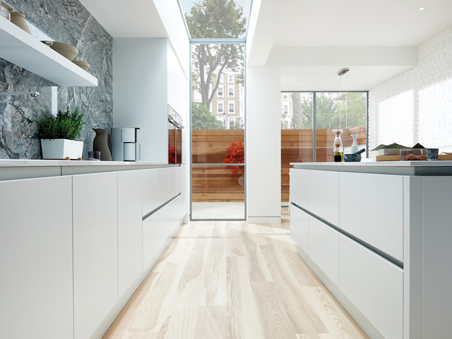 White Gloss True Handle-less Kitchen