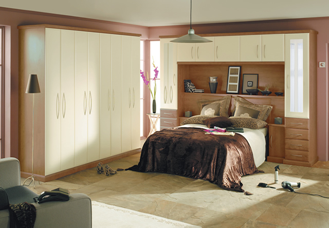 Ascot Walnut Cream Fitted Bedroom